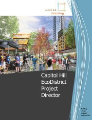 Capitol Hill EcoDistrict Project Director - Capitol Hill Housing