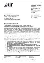 Externe Briefvorlage für alle Bereiche - Mensch und Technik - KIT