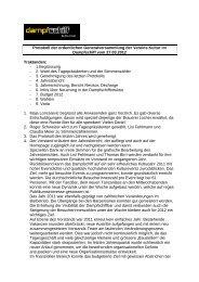 Protokoll der ordentlichen Generalversammlung der ... - Dampfschiff