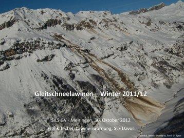 Gleitschneelawinen – Winter 2011/12