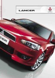 Lancer Sportlimousine Produktprospekt - Mitsubishi