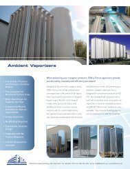 Ambient Air Vaporizers MV Series (MAWP 40 Bar)