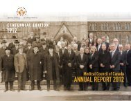 ANNUAL REPORT 2012 - Medical Council of Canada