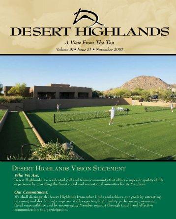 Our Commitment - Desert Highlands