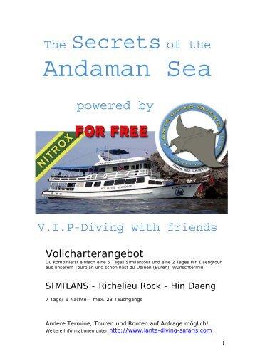 Andaman Sea - Lanta Diving Safaris