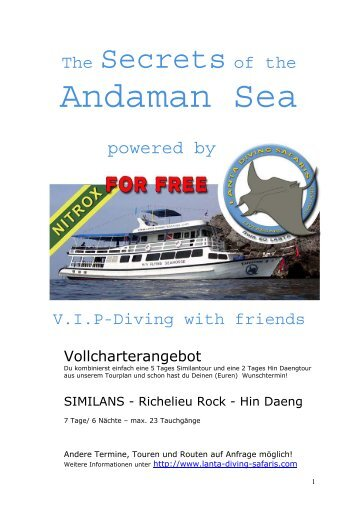 Andaman Sea - Lanta Diving Safaris