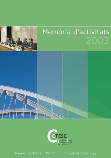 Memòria d'activitats 2003 - ctesc