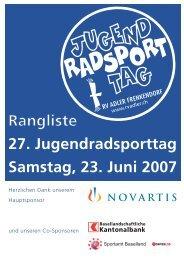 JRST 2007, Rangliste - RV Adler Frenkendorf