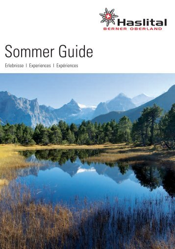 Sommer Guide - Jet World Masters 2013, Haslital, Schweiz