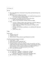 3.37 (Class 17) Review: • Pure oxygen flames ... - Materialteknologi