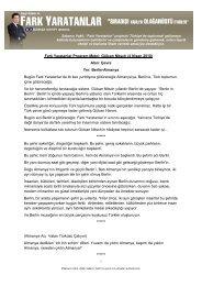 Fark Yaratanlar Program Metni: Gülcan Nitsch (4 ... - Sabancı Vakfı