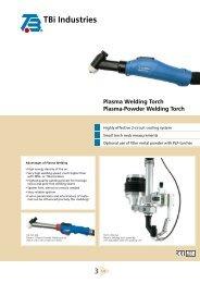 Plasma Welding Torch Plasma-Powder Welding Torch - TBi Industries