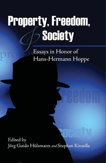 Essays in Honor of Hans-Hermann Hoppe - Stephan Kinsella