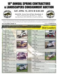annual spring contractors & landscapers consignment auction