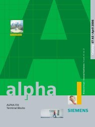 ALPHA FIX Terminal Blocks - Industria de Siemens