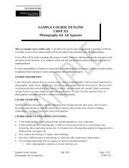 Sample Classroom Course Outline - The Chang School - Ryerson ...