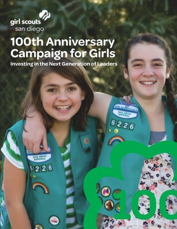 100th Anniversary Campaign for Girls - Girl Scouts San Diego