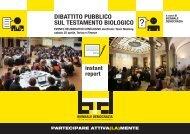 dibattito pubblico sul testamento biologico - Città di Torino