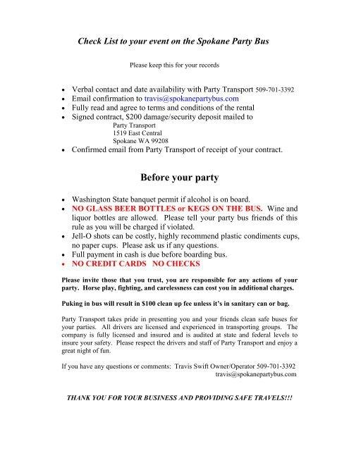 Party Transport Rental Agreement Spokanepartybus