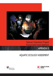 APPENDIX E AQUATIC ECOLOGY ASSESSMENT