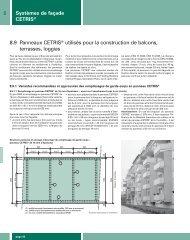 38 Systèmes de façade CETRIS® 8.9 Panneaux CETRIS® utilisés ...