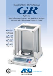 Series - A&D offers a wide and diverse range of measurement.