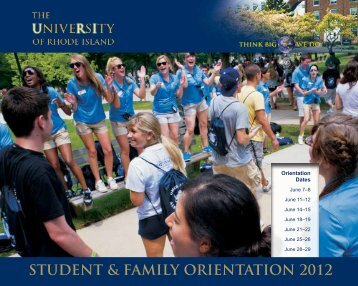 STUDENT & FAMILY ORIENTATION 2012 - University of Rhode Island