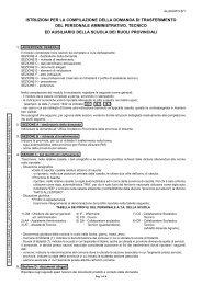 Istruzioni Trasferimento - Centro servizi amministrativi di Cosenza