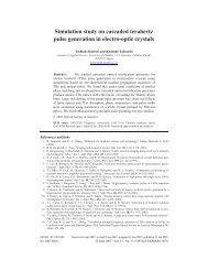 Simulation study on cascaded terahertz pulse generation in electro ...
