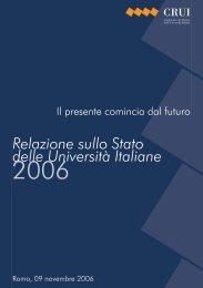 Relazione sullo Stato delle Università Italiane 2006