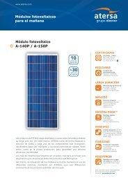 Módulo fotovoltaico A-140P / A-150P - ROLEAR MAIS