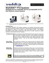 WallVIEW™ PTZ Systems - Vaddio