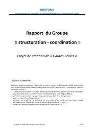 Rapport du Groupe « structuration - coordination » Projet ... - Unaforis