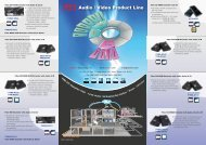 Audio / Video Product Line - WDM, Inc.