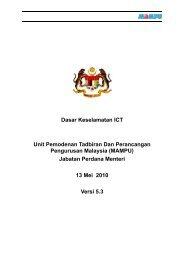 Dasar Keselamatan ICT (DKICT) MAMPU Versi 5.3