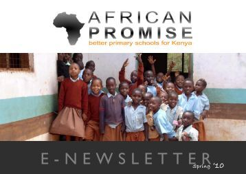 African Promise Spring newsletter 2010 (PDF) - GlobalGiving