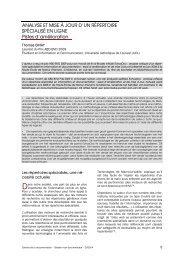 Analyse et mise à jour d'un répertoire spécialisé en ligne ... - ABD-BVD
