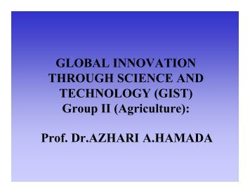 Presentation - GIST Global Innovation through Science & Technology