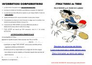 INFORMATIONS COMPLEMENTAIRES STAGE TENNIS de TABLE