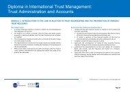 Diploma in International Trust Management - Jersey International ...