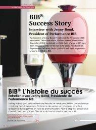 Article Eurowine sur le BIB de Septembre 2011 - Performance BIB ...