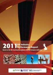 UK Industry Performance Report - Constructing Excellence