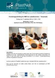 Temadag om Plast og Brand - PlastNet
