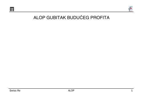 1999 ALOP Advance Loss of Profits-bos.pdf - Bosna RE