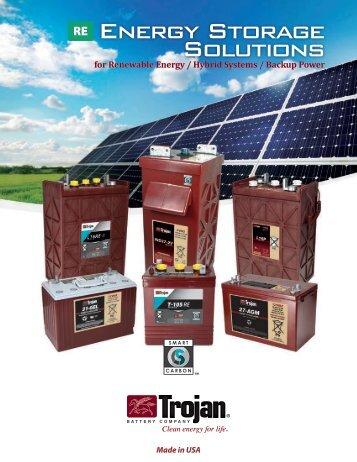 Energy Storage Solutions - Trojan Battery Company