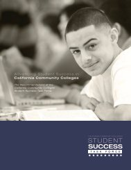 Student Success Task Force Report - California Community ...
