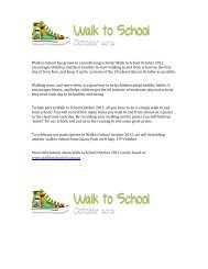 Walk to School has grown to a month-long activity! Walk to School ...