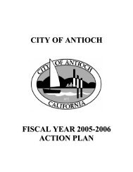 Section One: Summary of Consolidated Plan ... - City of Antioch