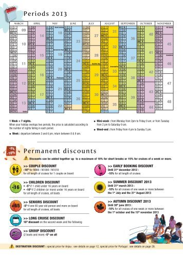Prices & Booking 2013 (PDF, 0,8 Mo) - Nicols Canal boat