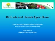 Biofuels and Hawaii Agriculture - US Department of Agriculture